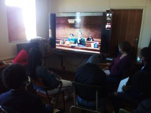 Learners interact with other learners across the country